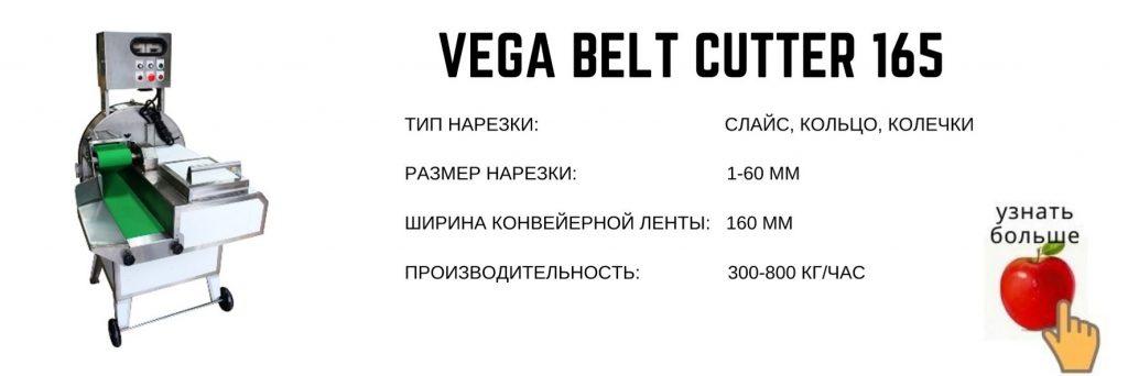 Vega Belt Cutter 165 промышленная овощерезка нарезка слайсом