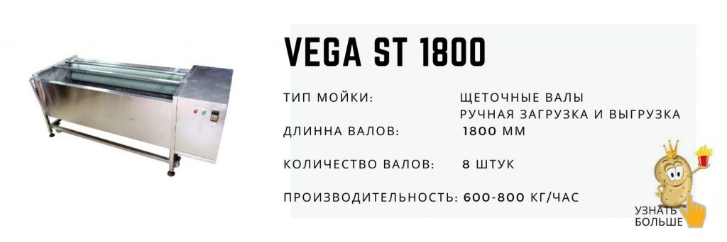 Vega ST 1800 машина для мойки и полировки корнеплодов