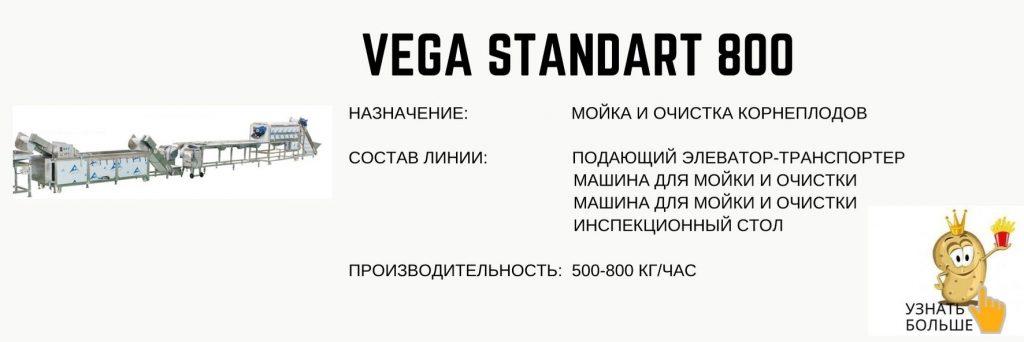 Vega Standard 800 мойка и очистка корнеплодов